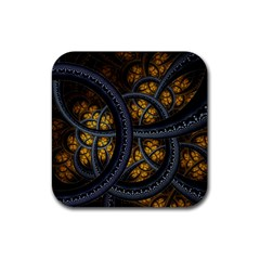 Circles Background Spots  Rubber Coaster (square)  by amphoto