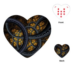 Circles Background Spots  Playing Cards (heart)  by amphoto
