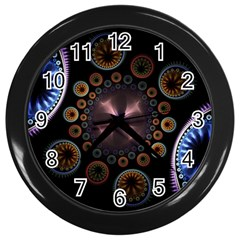 Circles Colorful Patterns  Wall Clocks (black) by amphoto