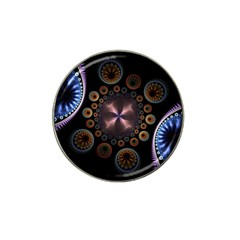 Circles Colorful Patterns  Hat Clip Ball Marker by amphoto