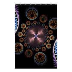 Circles Colorful Patterns  Shower Curtain 48  X 72  (small)  by amphoto