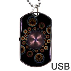 Circles Colorful Patterns  Dog Tag Usb Flash (two Sides) by amphoto