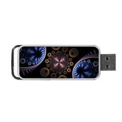 Circles Colorful Patterns  Portable Usb Flash (one Side) by amphoto