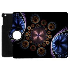 Circles Colorful Patterns  Apple Ipad Mini Flip 360 Case by amphoto
