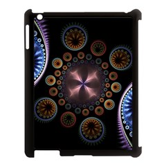 Circles Colorful Patterns  Apple Ipad 3/4 Case (black) by amphoto