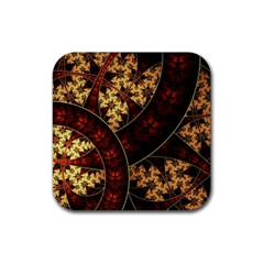 Patterns Line Pattern  Rubber Square Coaster (4 Pack)  by amphoto