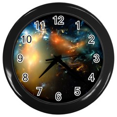 Explosion Sky Spots  Wall Clocks (black) by amphoto