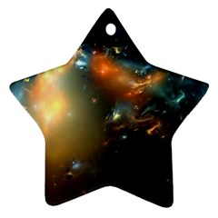 Explosion Sky Spots  Star Ornament (two Sides) by amphoto