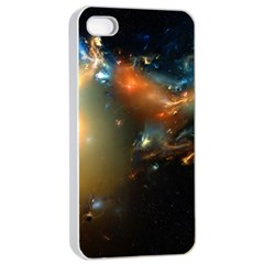 Explosion Sky Spots  Apple Iphone 4/4s Seamless Case (white) by amphoto