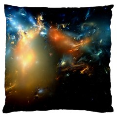 Explosion Sky Spots  Large Cushion Case (two Sides) by amphoto