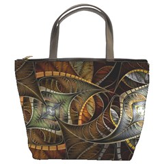 Mosaics Stained Glass Colorful  Bucket Bags by amphoto