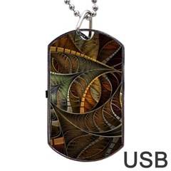 Mosaics Stained Glass Colorful  Dog Tag Usb Flash (one Side) by amphoto