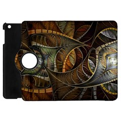 Mosaics Stained Glass Colorful  Apple Ipad Mini Flip 360 Case by amphoto