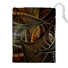Mosaics Stained Glass Colorful  Drawstring Pouches (xxl) by amphoto