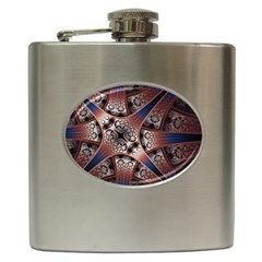 Lines Patterns Background  Hip Flask (6 Oz) by amphoto