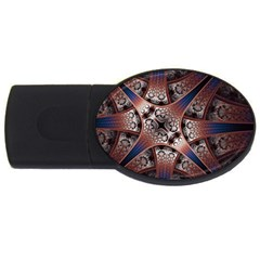 Lines Patterns Background  Usb Flash Drive Oval (4 Gb) by amphoto