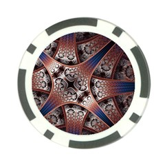 Lines Patterns Background  Poker Chip Card Guard by amphoto