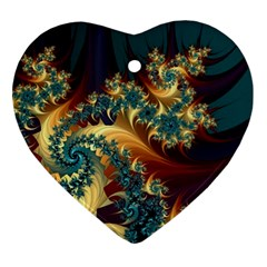 Patterns Paint Ice  Ornament (heart) by amphoto