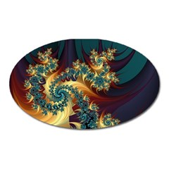Patterns Paint Ice  Oval Magnet by amphoto