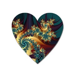 Patterns Paint Ice  Heart Magnet by amphoto