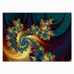 Patterns Paint Ice  Large Glasses Cloth (2 Side) by amphoto