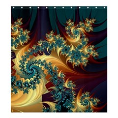 Patterns Paint Ice  Shower Curtain 66  X 72  (large)