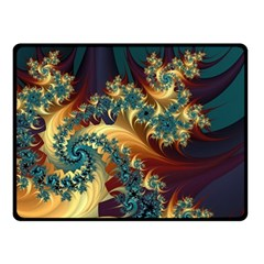 Patterns Paint Ice  Fleece Blanket (small) by amphoto