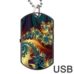 Patterns Paint Ice  Dog Tag Usb Flash (two Sides) by amphoto