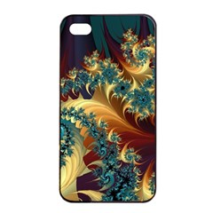Patterns Paint Ice  Apple Iphone 4/4s Seamless Case (black) by amphoto