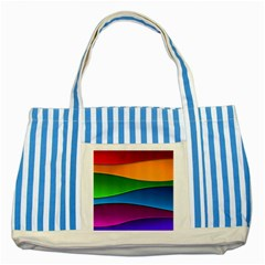 Layers Light Bright  Striped Blue Tote Bag by amphoto