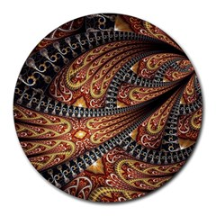 Patterns Background Dark  Round Mousepads by amphoto