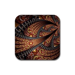 Patterns Background Dark  Rubber Square Coaster (4 Pack)  by amphoto