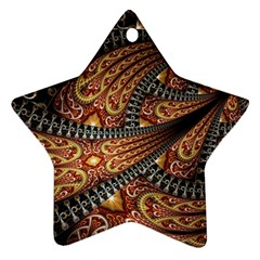 Patterns Background Dark  Star Ornament (two Sides) by amphoto