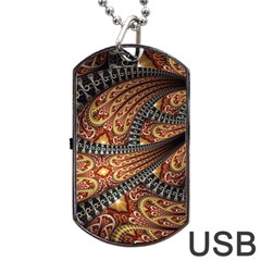 Patterns Background Dark  Dog Tag Usb Flash (one Side) by amphoto