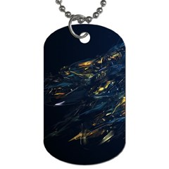 Spots Dark Lines Glimpses 3840x2400 Dog Tag (two Sides) by amphoto