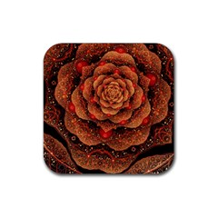 Flower Patterns Petals  Rubber Coaster (square)  by amphoto
