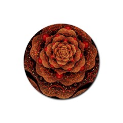 Flower Patterns Petals  Rubber Coaster (round)  by amphoto