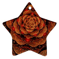 Flower Patterns Petals  Star Ornament (two Sides) by amphoto