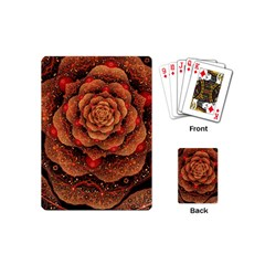 Flower Patterns Petals  Playing Cards (mini)  by amphoto