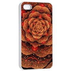 Flower Patterns Petals  Apple Iphone 4/4s Seamless Case (white) by amphoto