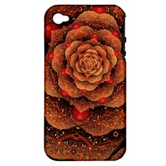 Flower Patterns Petals  Apple Iphone 4/4s Hardshell Case (pc+silicone)