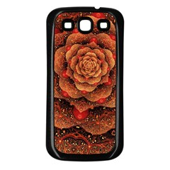 Flower Patterns Petals  Samsung Galaxy S3 Back Case (black) by amphoto