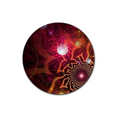 Explosion Background Bright  Rubber Coaster (round)  by amphoto