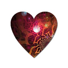Explosion Background Bright  Heart Magnet by amphoto