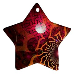 Explosion Background Bright  Star Ornament (two Sides) by amphoto