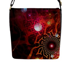 Explosion Background Bright  Flap Messenger Bag (l)  by amphoto