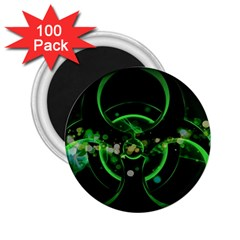 Radiation Sign Spot  2 25  Magnets (100 Pack)  by amphoto