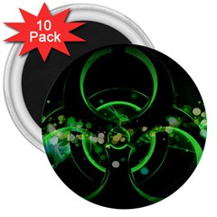 Radiation Sign Spot  3  Magnets (10 Pack)  by amphoto