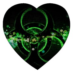 Radiation Sign Spot  Jigsaw Puzzle (heart) by amphoto