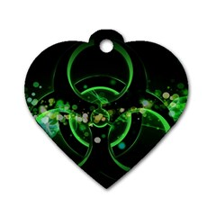 Radiation Sign Spot  Dog Tag Heart (one Side)
